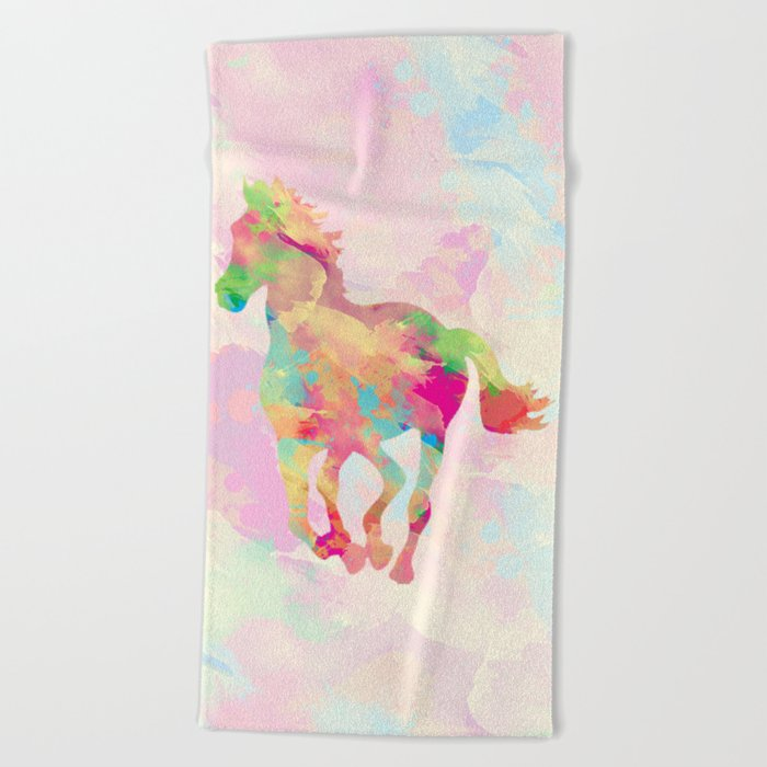 Abstract horse Beach Towel