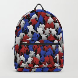 Red blue white hockey players Backpack