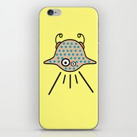 ufo iPhone & iPod Skins featuring UFO by Joe Pansa