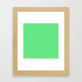 Simple Solid Color Apple Green All Over Print Framed Art Print
