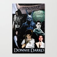 donnie darko Canvas Prints featuring donnie darko by American Artist