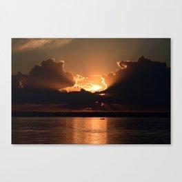 Fisherman Sunset Canvas Print
