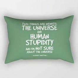 Human Stupidity Quote - Albert Einstein Rectangular Pillow