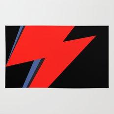 David Bowie Lightning bolt Rug