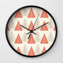 Winter Hoidays Pattern #8 Wall Clock