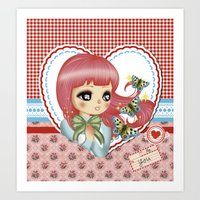 retro love Art Print