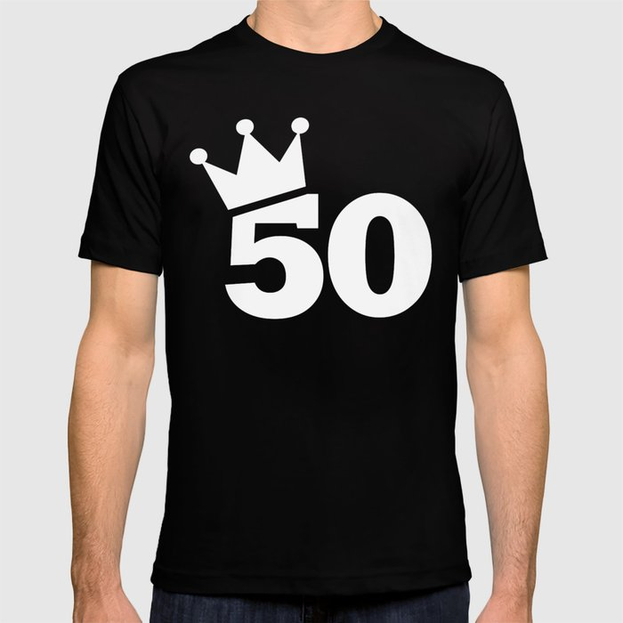 Crown 50th Birthday T Shirt