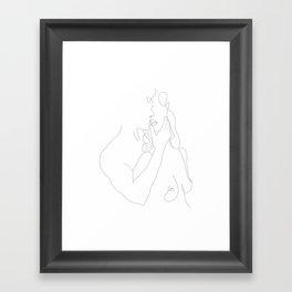 Couple - Minimal Line Drawing Framed Art Print