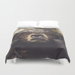 Armored Bear Companion Duvet Cover