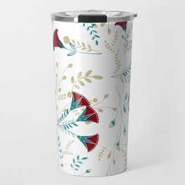 Egyptian Papyrus Flowers Travel Mug
