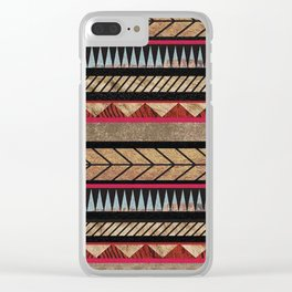 African Tribal Pattern No. 125 Clear iPhone Case