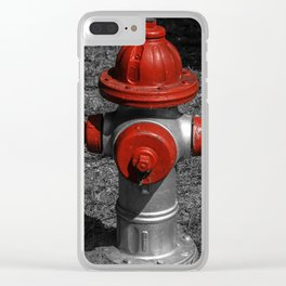 Red Fire Hydrant Clear iPhone Case
