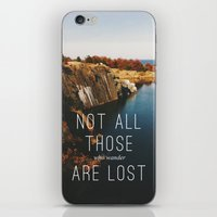 wander iPhone & iPod Skins featuring Wander by Tina Crespo