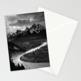 The Tetons and the Snake River  Stationery Cards