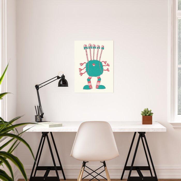Robot Alien Monster No 162 Poster