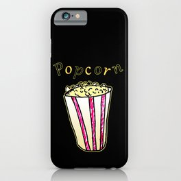 Popcorn: Black iPhone Case