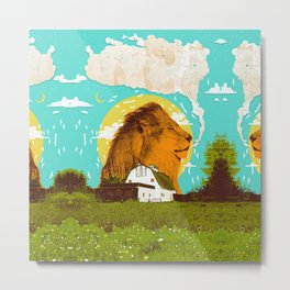 FARM LION Metal Print