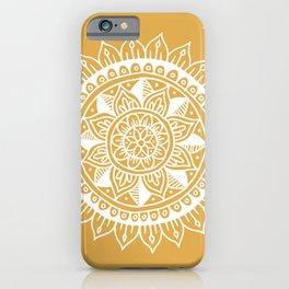 Mustard Yellow Zen Mandala iPhone Case