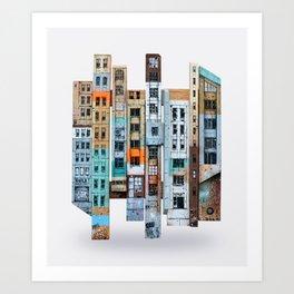 NEW-YORK PATCHWORK Art Print