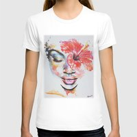 hibiscus T-shirts featuring Hibiscus by Maria Lozano - Art