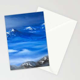 Moonlight Night in Himalaya Stationery Cards