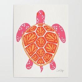 Sea Turtle – Melon Palette Poster