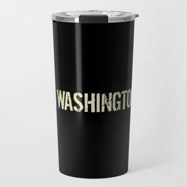 Washington D.C.: Black Flag Travel Mug