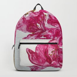 Wild Pink Floral Watercolour Backpack