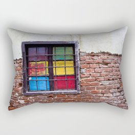 Window of Many Colors Rectangular Pillow