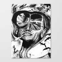 fear and loathing Canvas Prints featuring Fear and Loathing by Tufty Cookie