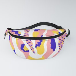 blue, yellow, pink MIX Fanny Pack