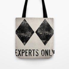 Ski Patrol Experts Only Double Black Diamond Tote Bag