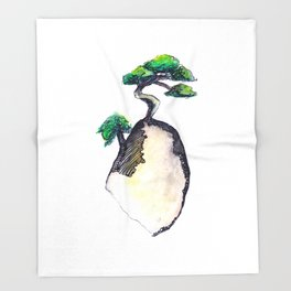 floating island Throw Blanket