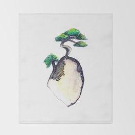 floating island Throw Blanket