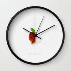 HALF (apple) LIFE Wall Clock
