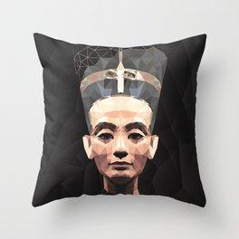 Nefertiti D Throw Pillow