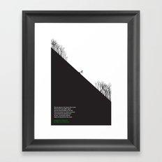 Downhill Framed Art Print