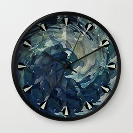 Water Colors Wall Clock
