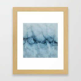 Blue marble abstraction Framed Art Print