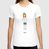socks T-shirts featuring Tube Socks by Sara Showalter