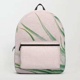 Minimal Aloe on pink background - Aloe Photography Backpack