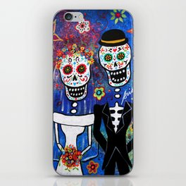 Mexican Folk Art Wedding Painting iPhone Skin