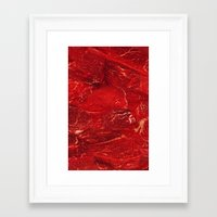 meat Framed Art Prints featuring Meat. by Nathan