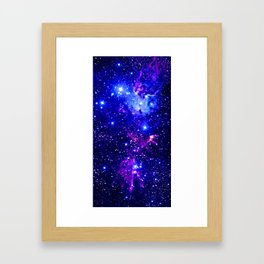 Fox Fur Nebula Galaxy blue purple Framed Art Print