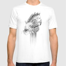 caterpillar MEDIUM White Mens Fitted Tee