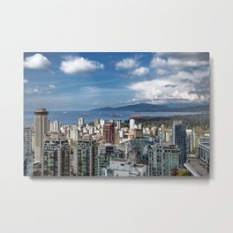 Aerial view at Downtown Vancouver Metal Print