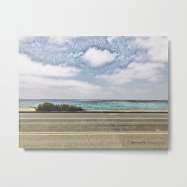 Cliffside Mosaic Metal Print