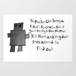 Robot Problems Art Print