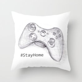 #StayHome Throw Pillow