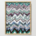 Cool Blues Zigzags Abstract by homedeco